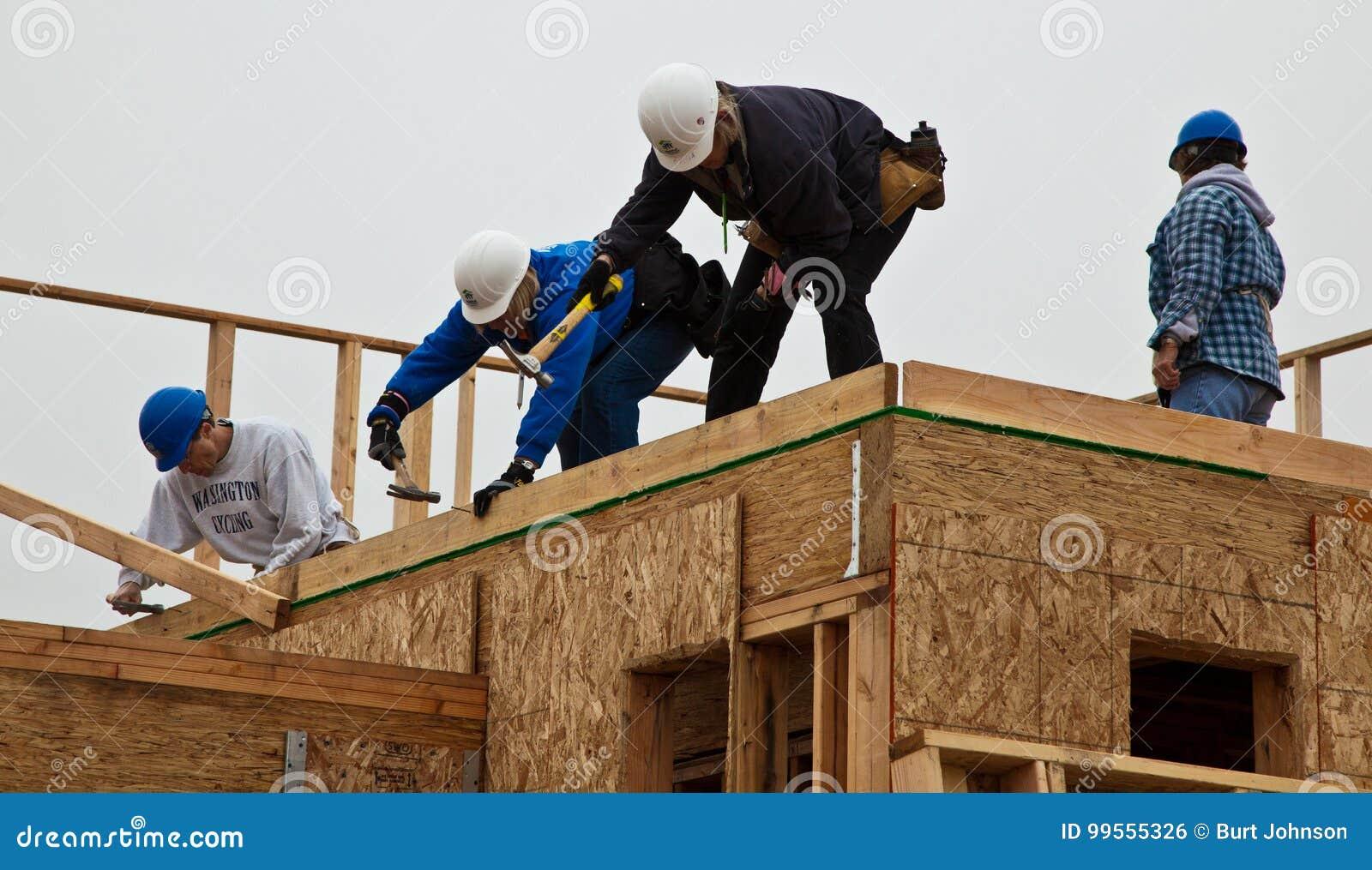 Manbyggandetak för hemmet för livsmiljön för mänsklighet