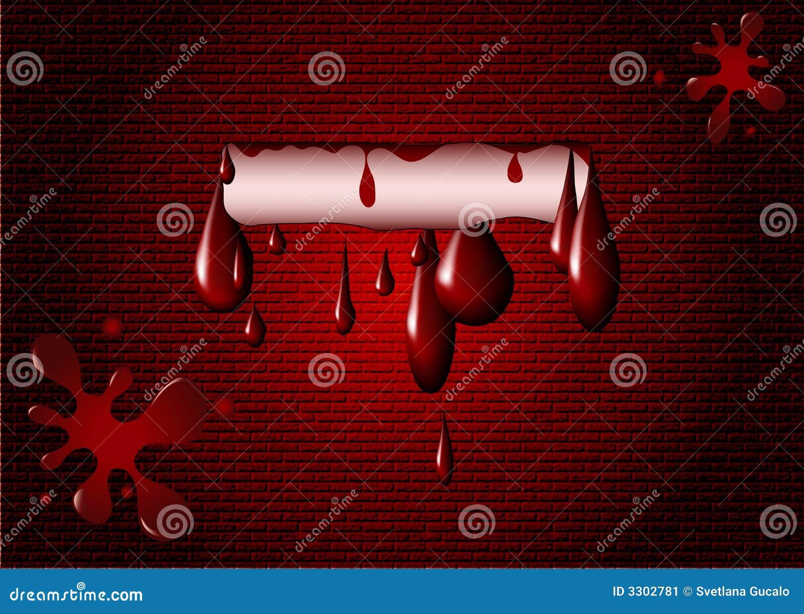 Mancha blanca negra de la sangre en la pared ilustraci n del vector ilustraci n de - Manchas blancas en la pared ...