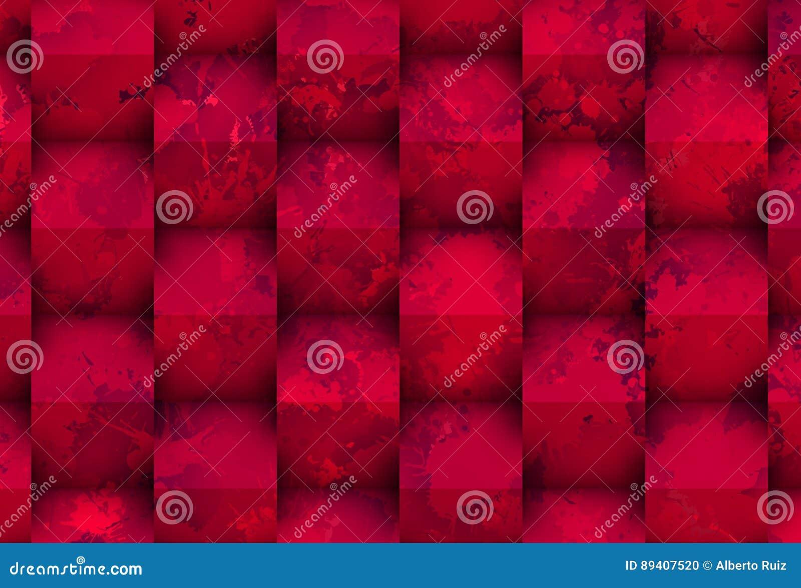 Mancha roxa com cubos