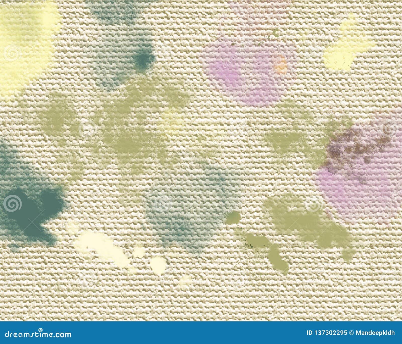 Mancha seca de las pinturas acrílicas Fondo pintado a mano abstracto creativo Movimientos de pintura de acrílico en lona Arte mod