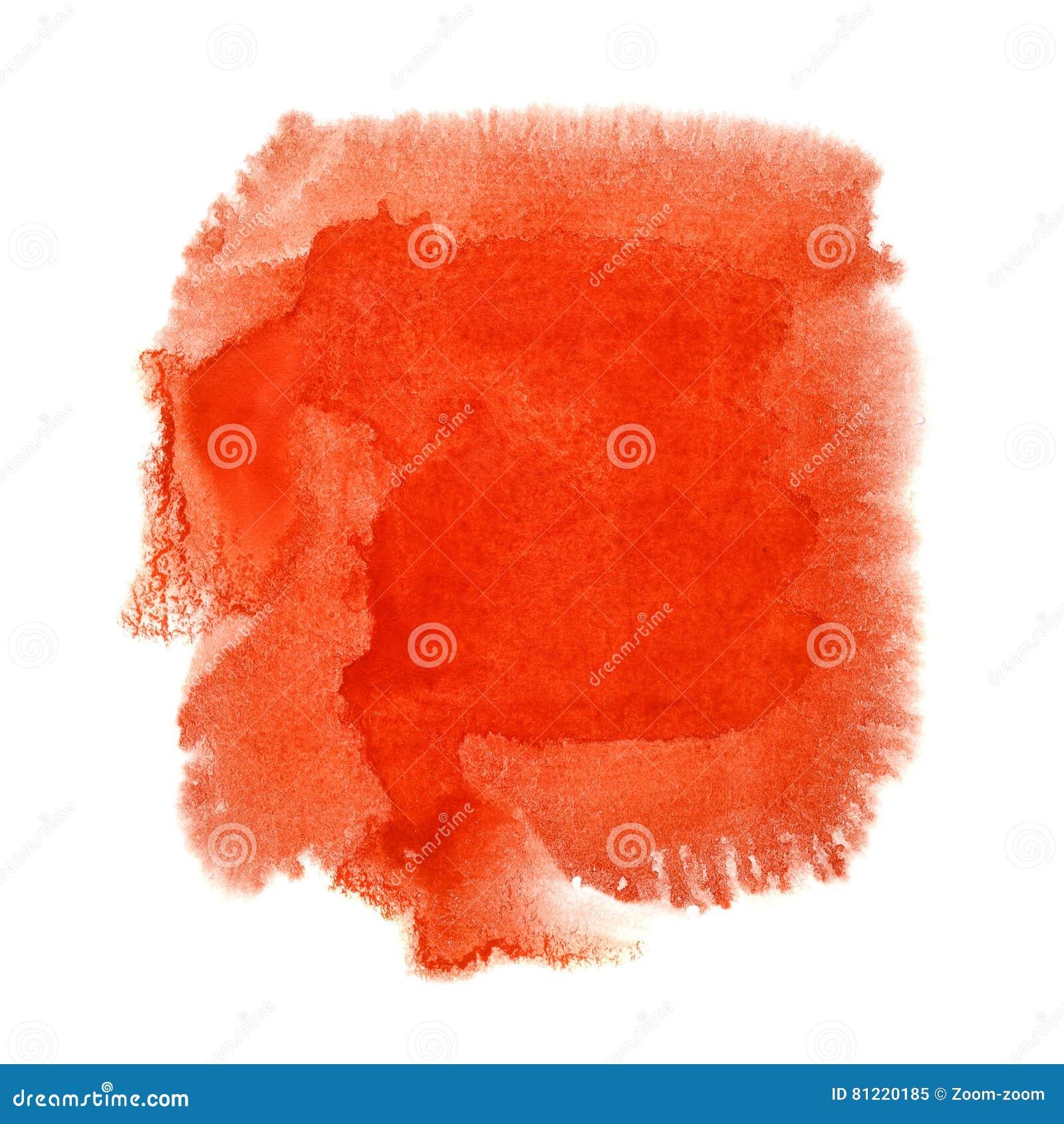 Mancha vermelha da aquarela