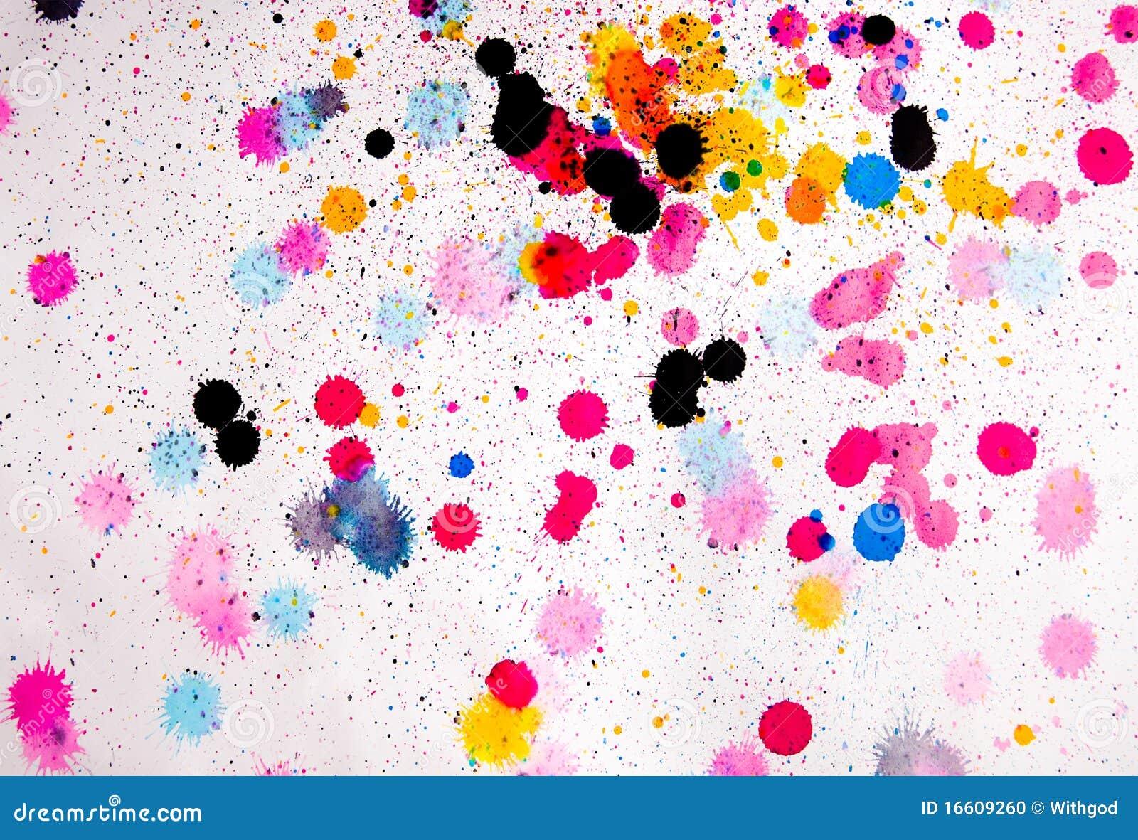 Manchas Blancas Negras De La Pintura Del Color Foto De Archivo Imagen De Pintura Chorro 16609260