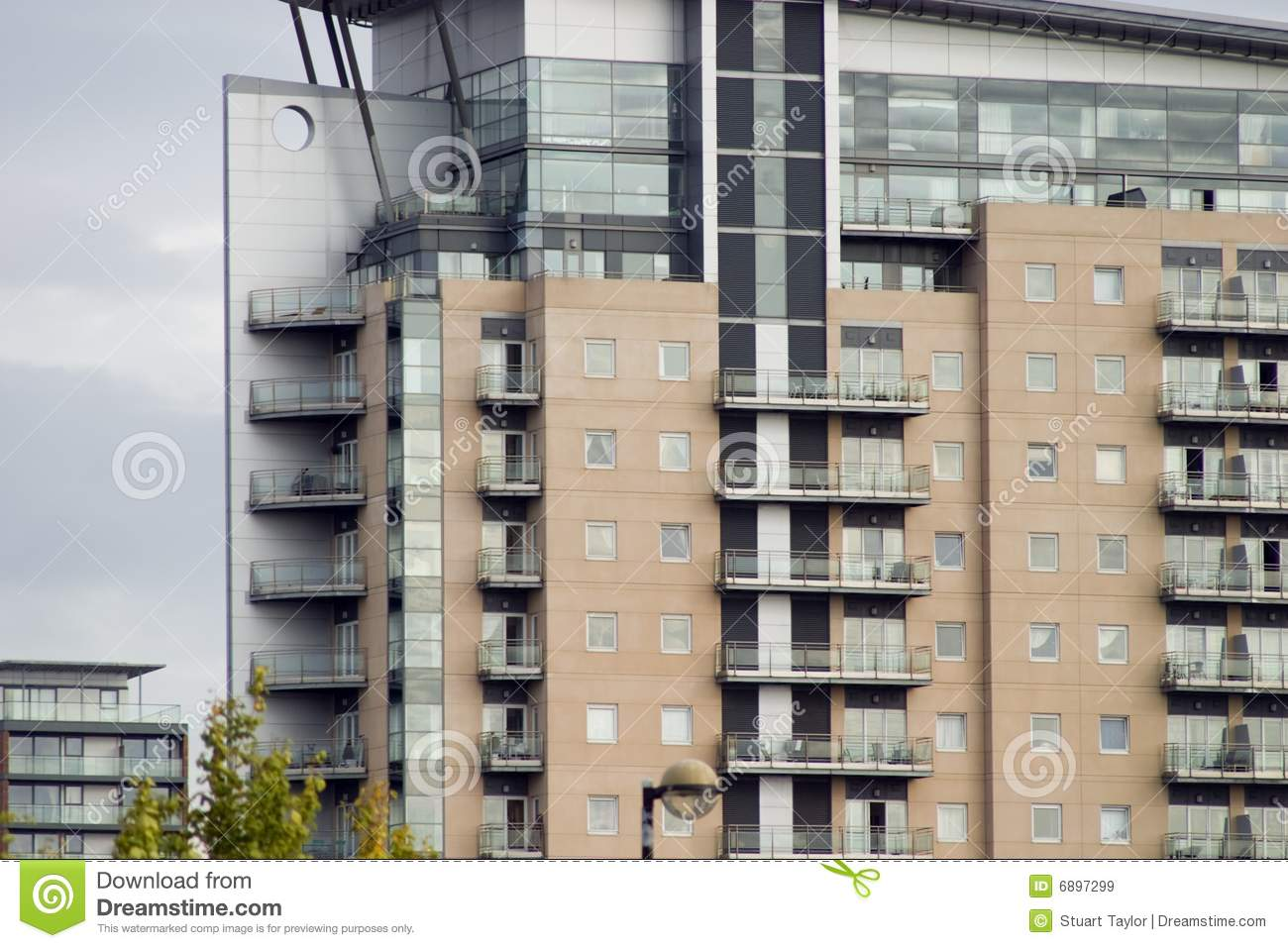 Manchester Apartments stock image. Image of modern ...