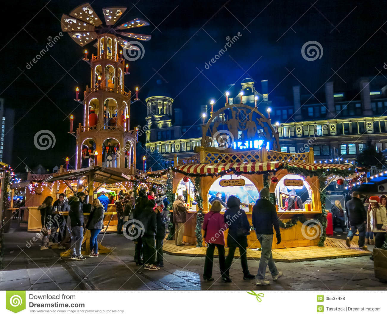 Manchester Christmas Markets England Editorial Stock