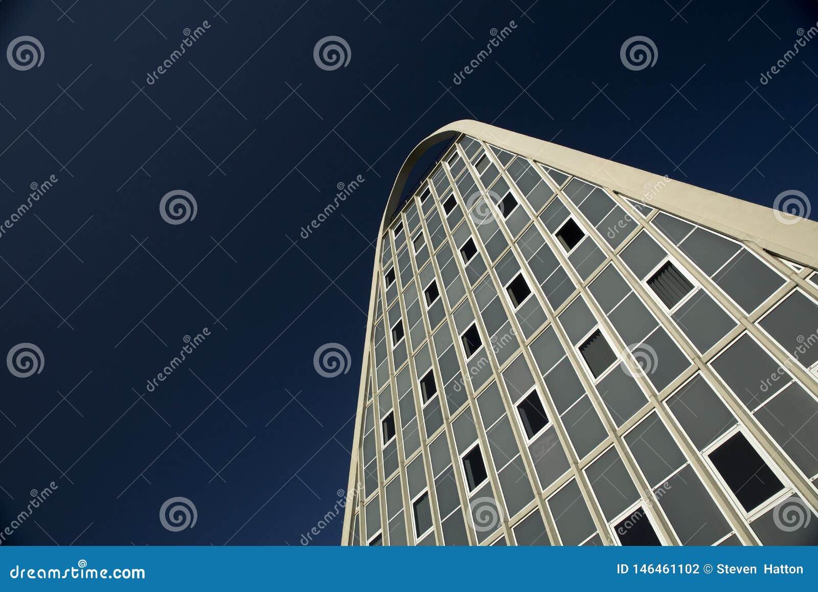 Manchester, Groter Manchester, het UK, Oktober 2013, het beroemde die gebouw als het Toostrek wordt bekend of Hollings-de Bouw