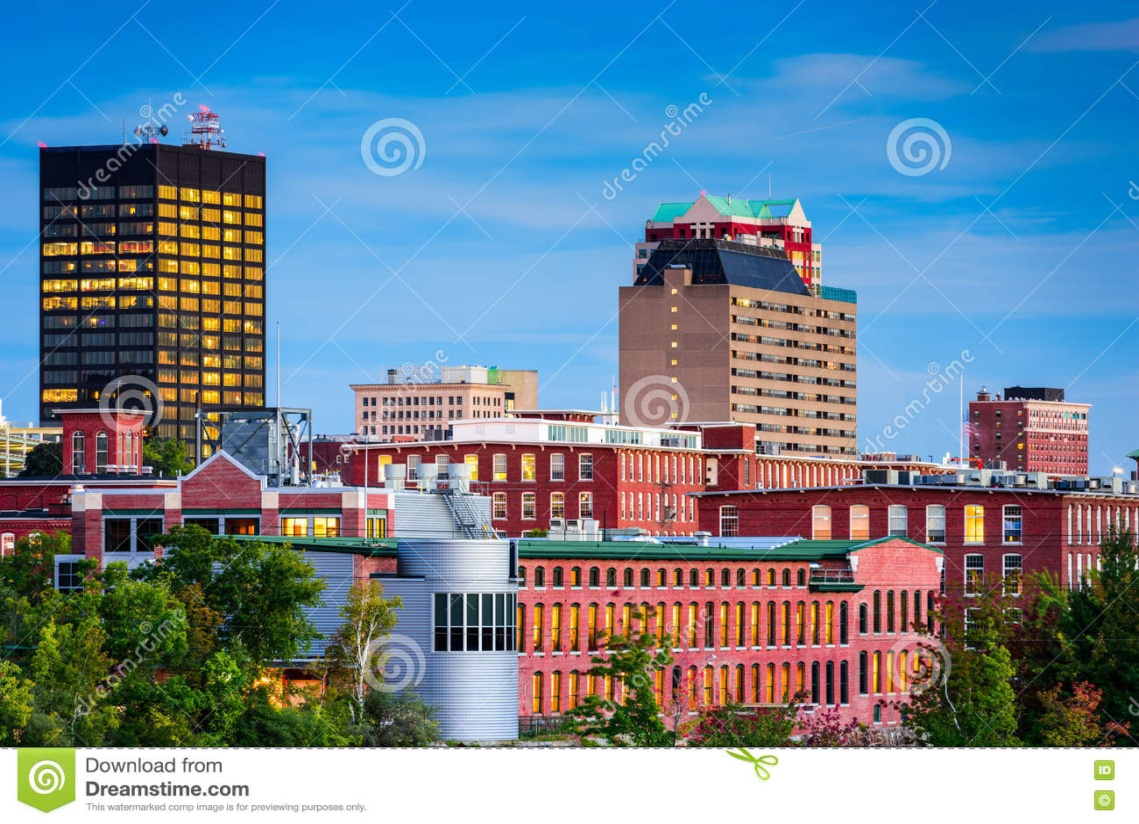 Manchester, orizzonte di New Hampshire