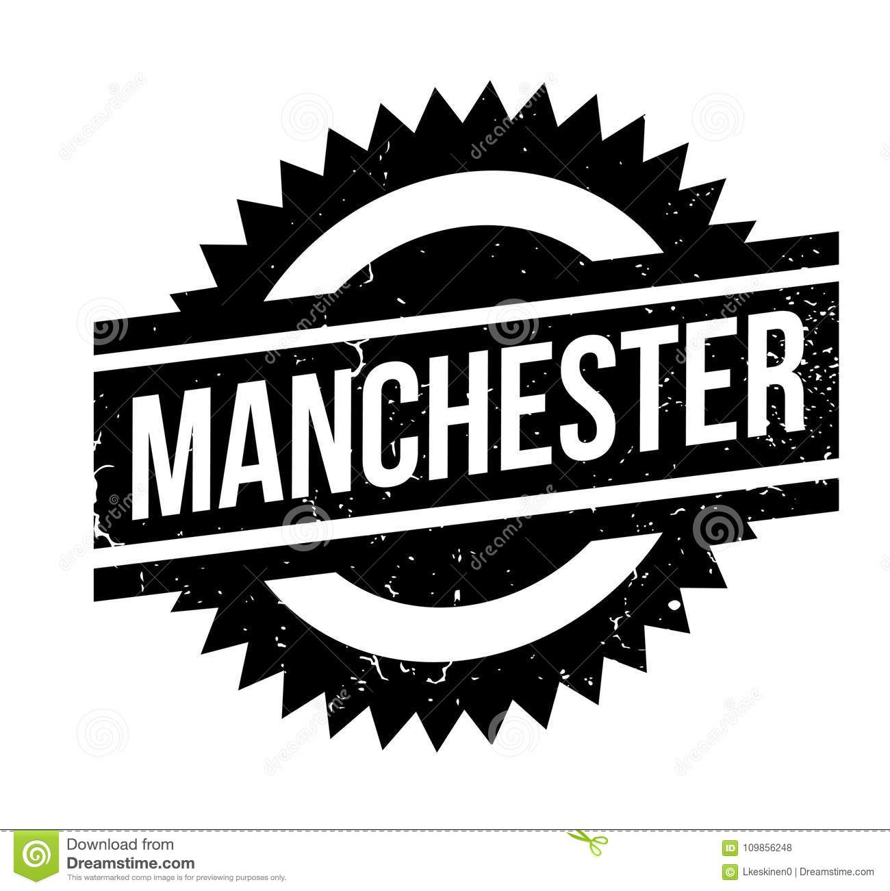 Download Manchester Rubber Stamp Stock Vector Illustration Of Button