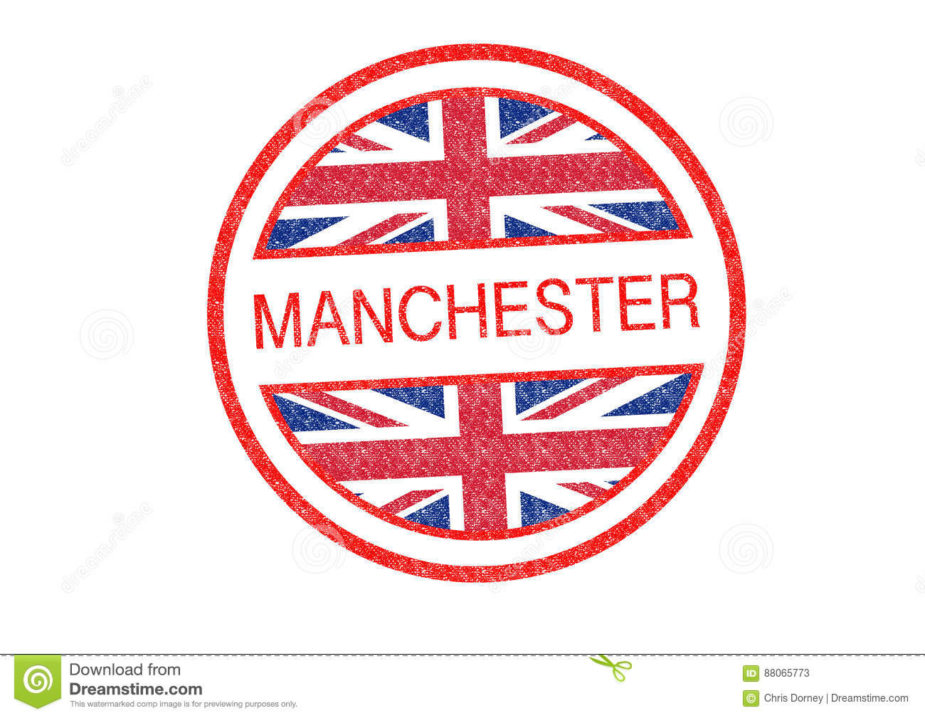 MANCHESTER Rubber Stamp Stock Illustration Of England