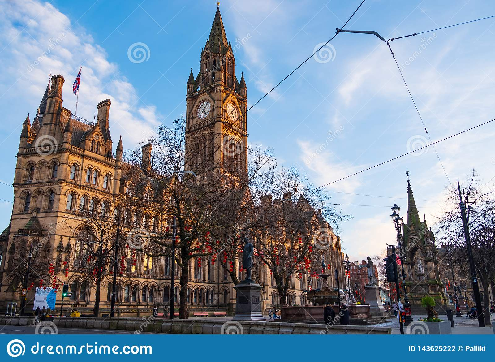 Manchester Town Hall With Chinese New Year Lantern ...