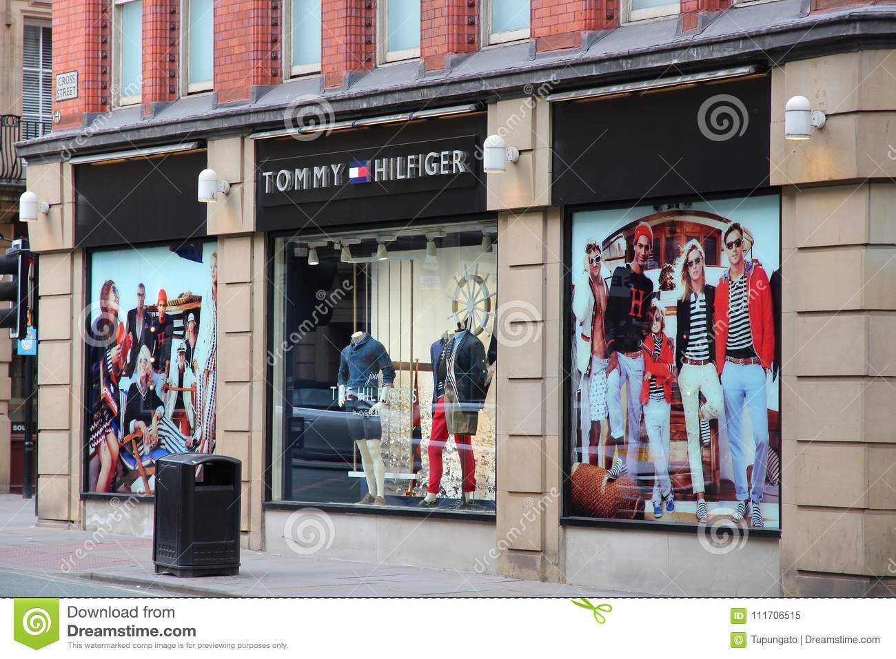 2a3b77b3 MANCHESTER, UK - APRIL 21, 2013: Tommy Hilfiger fashion store in  Manchester, UK. Tommy Hilfiger Corporation has 1, 400 stores worldwide.