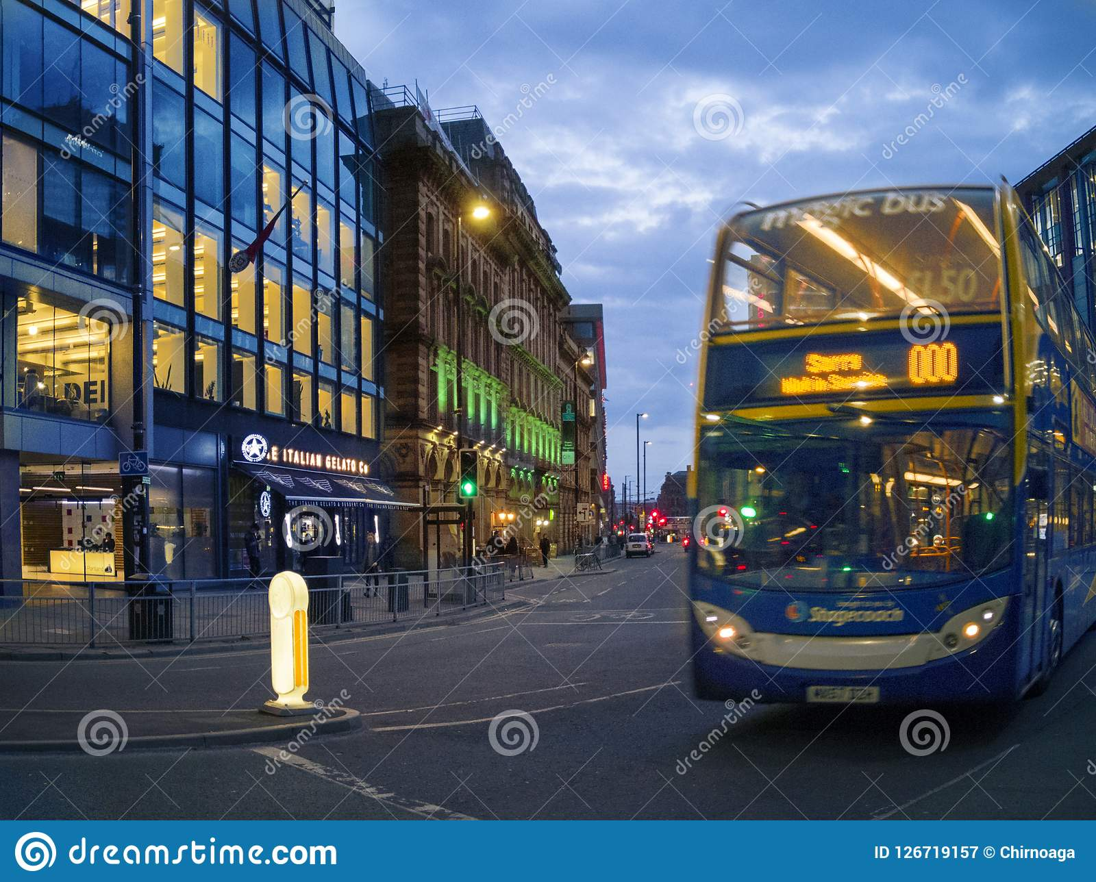 People ride JPT city bus in Manchester,