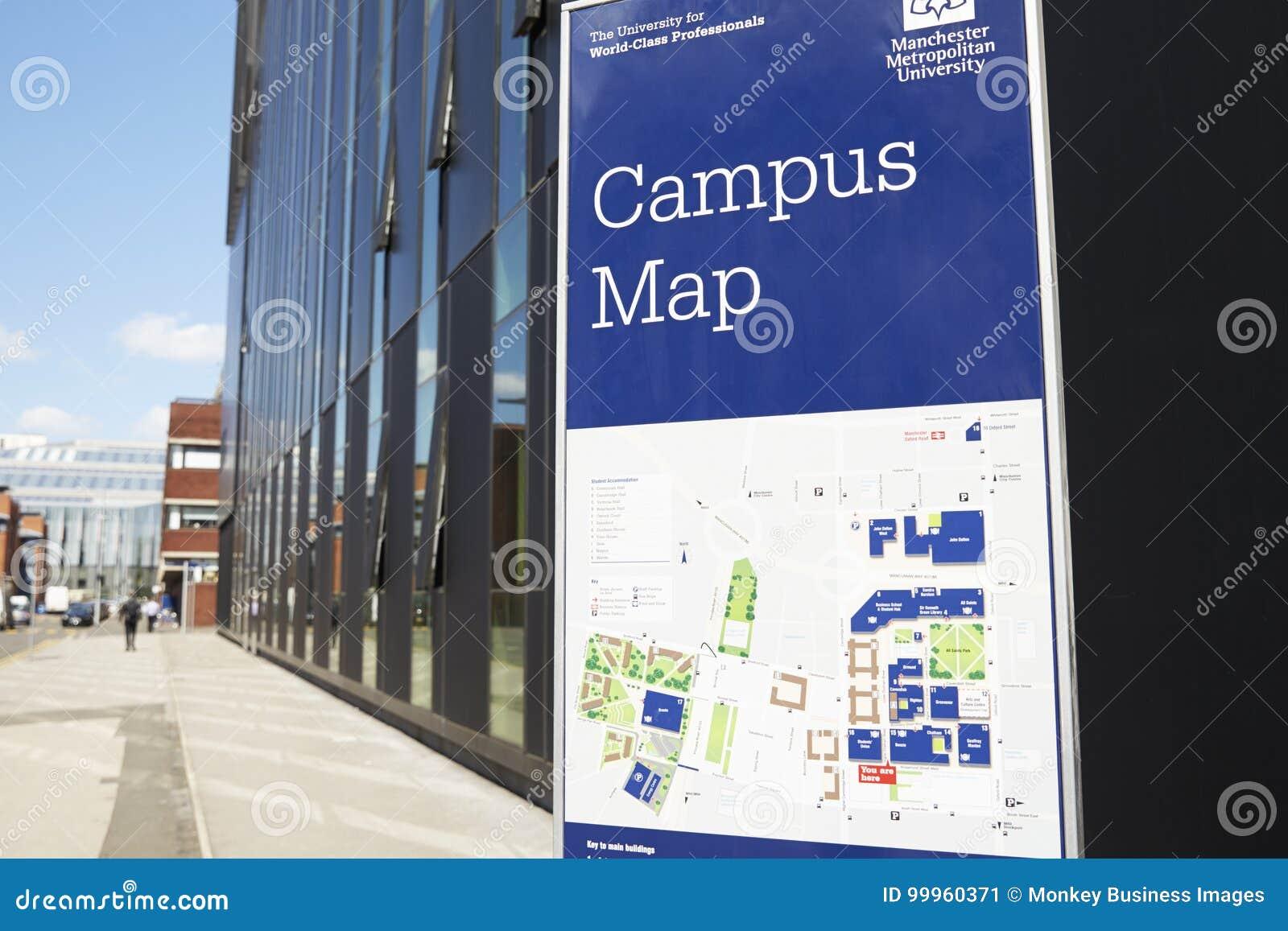 University Of Manchester Campus Map.Manchester Uk 4 May 2017 Manchester Metropolitan University