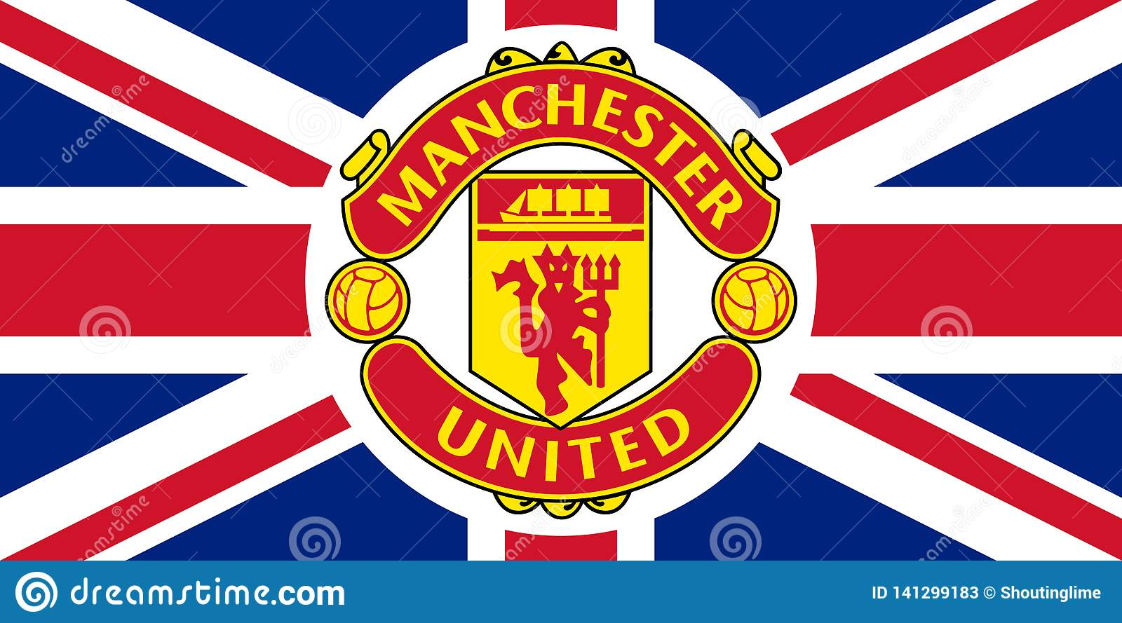 Download Manchester United Kingdom Flag