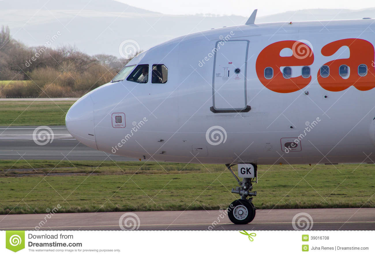 Manchester, United Kingdom - February 16, 2014: easyJet Airbus A