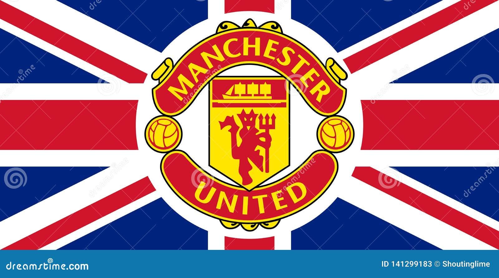 Manchester Unitedembleem op Union Jack
