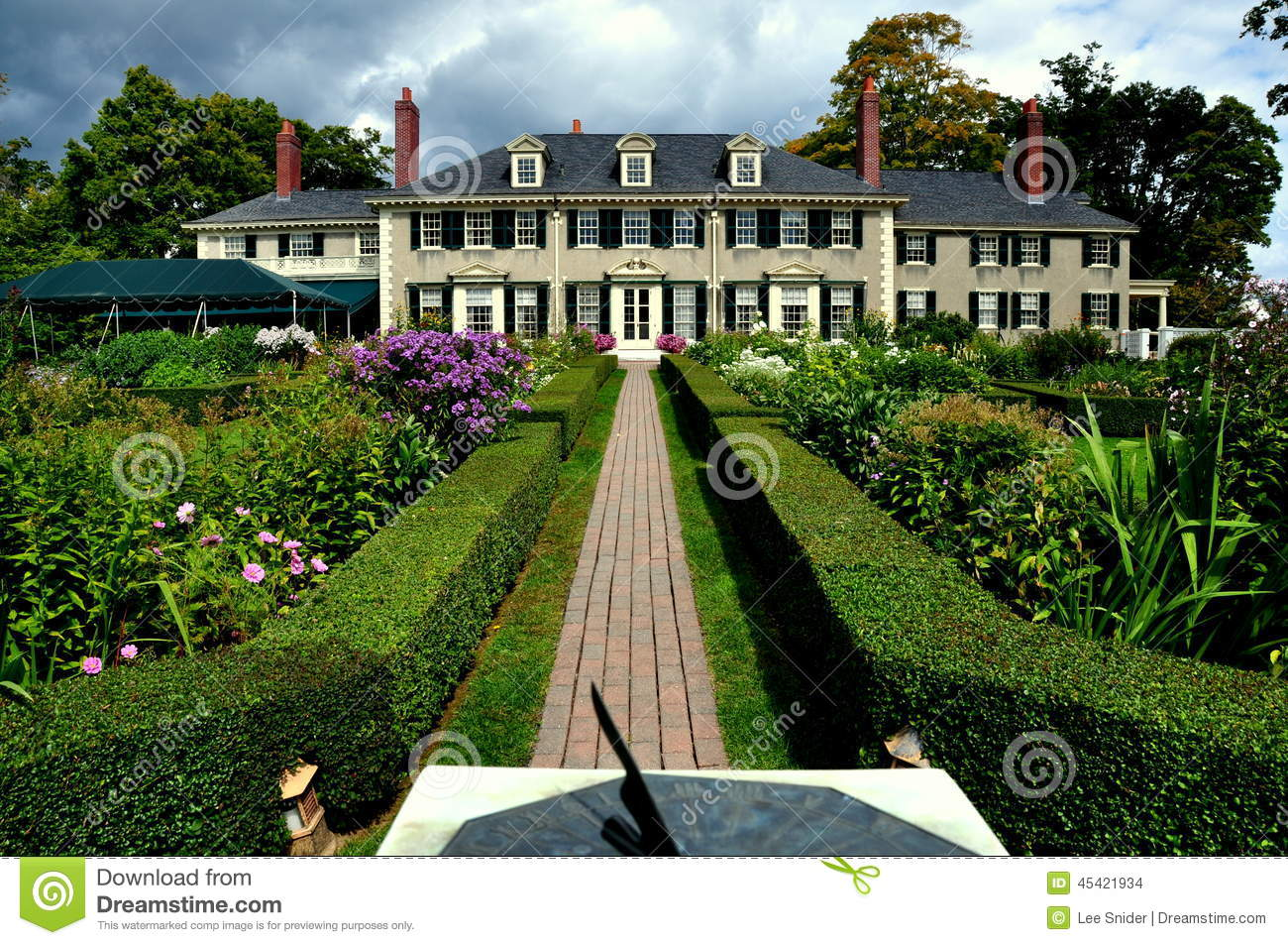 Hildene Manchester Vermont Historic Home Stock