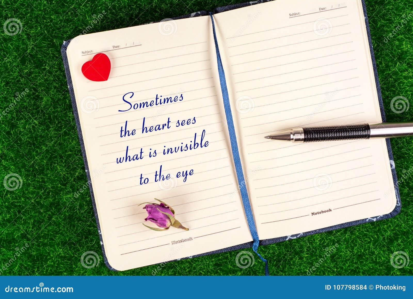 Manchmal sieht das Herz, was zum Auge unsichtbar ist