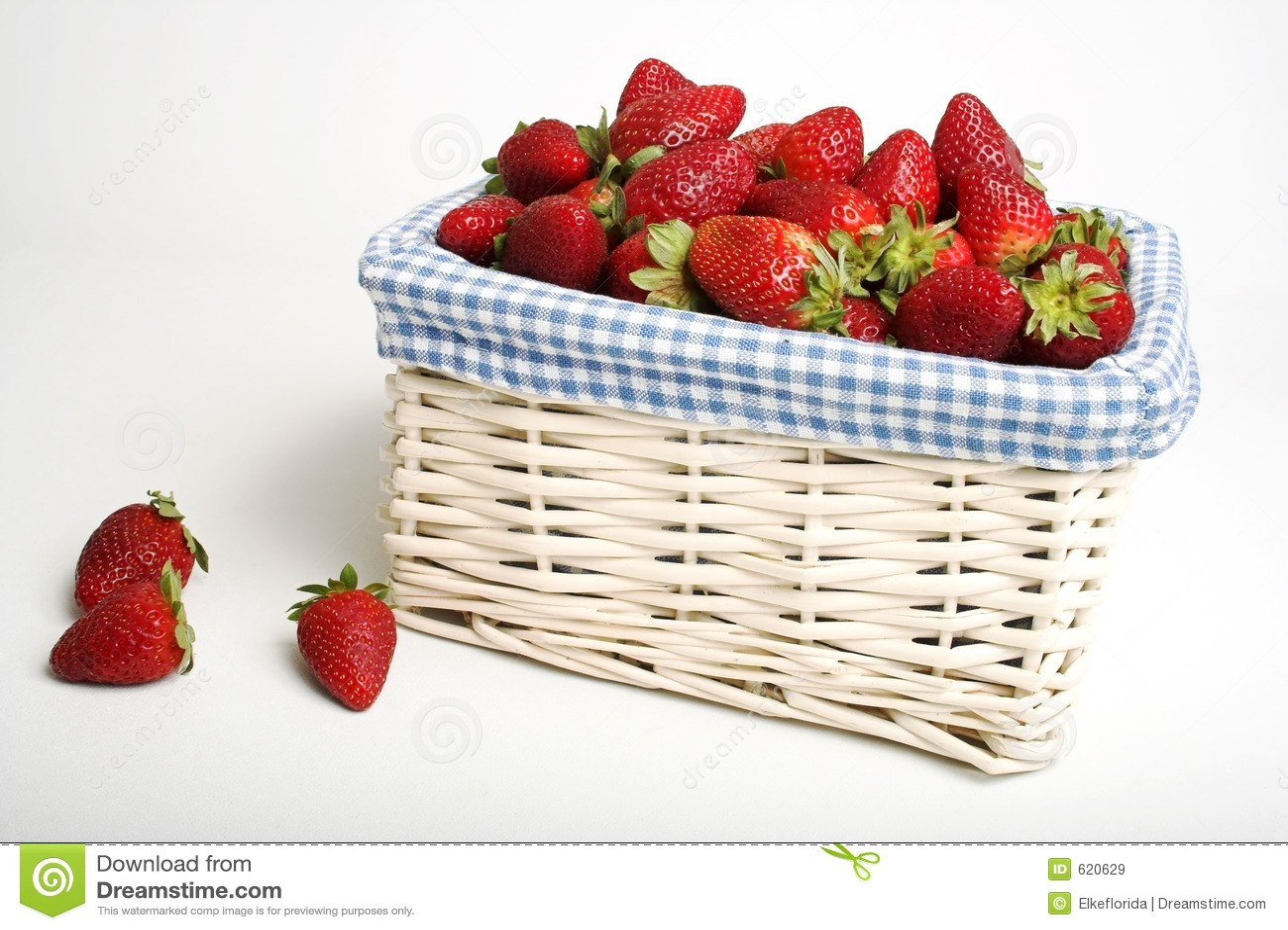 Mand van aardbeien