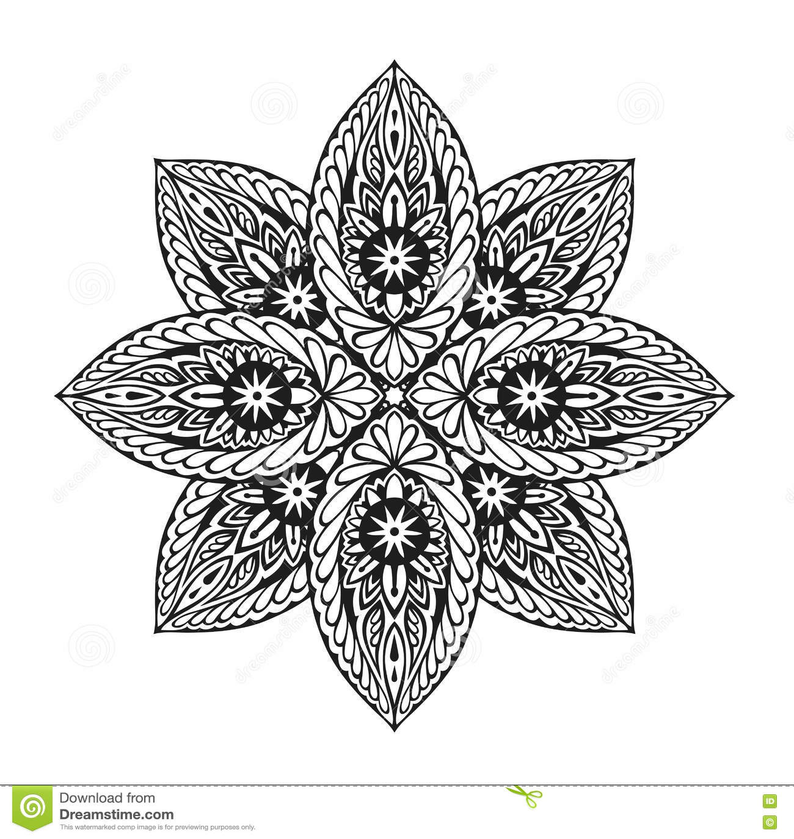 Mandala étnica del ornamento Ilustración del vector