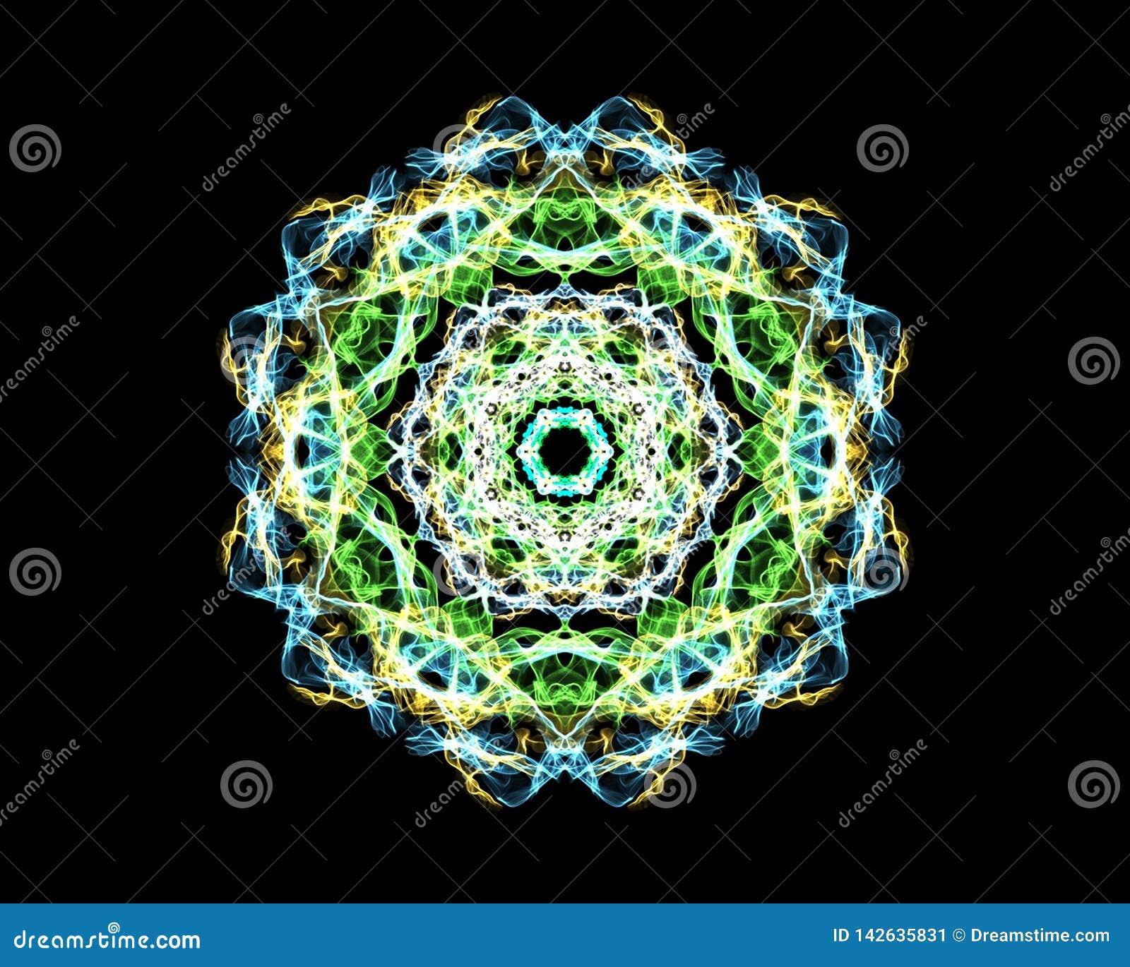 Mandala 'malaquite '- o teste padrão do fractal, estimula o crescimento e o aumento