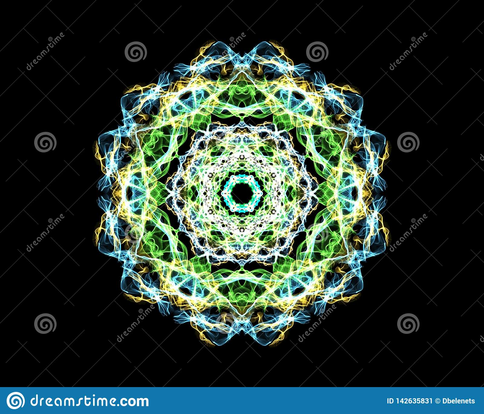 Mandala 'Malachiet '- fractal het patroon, bevordert de groei en verhoging