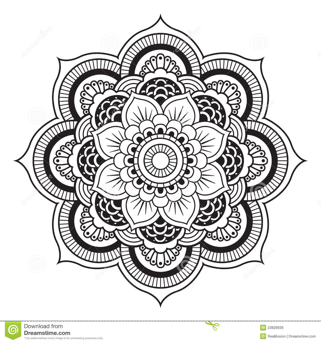 Mandala Stock Vector Image Of Lace Moroccan Round