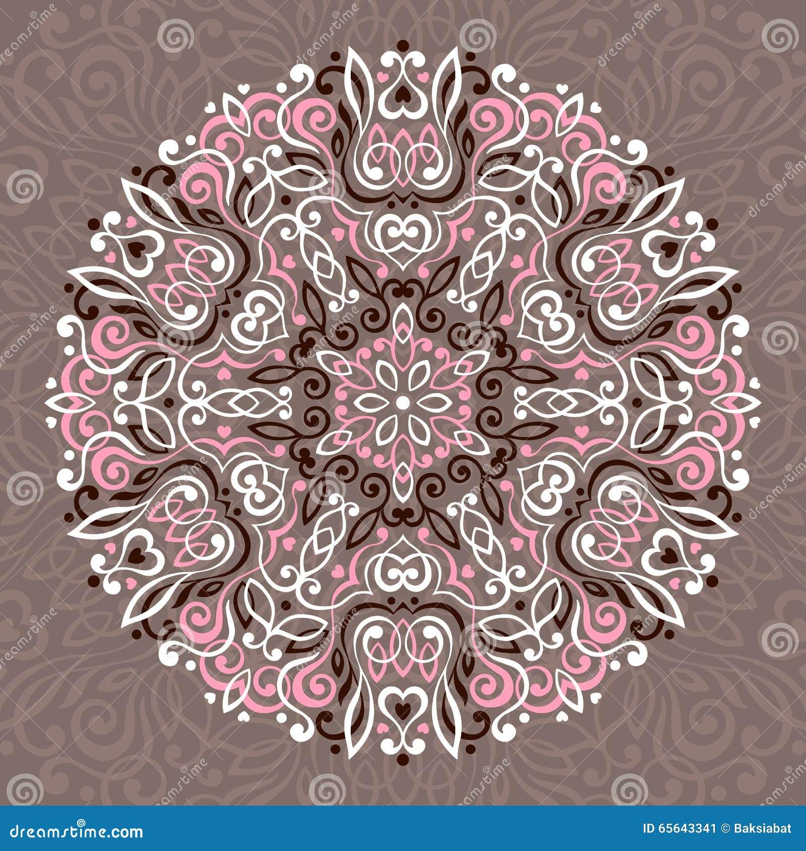 Mandala abstrait de fleur Élément ethnique décoratif pour la conception