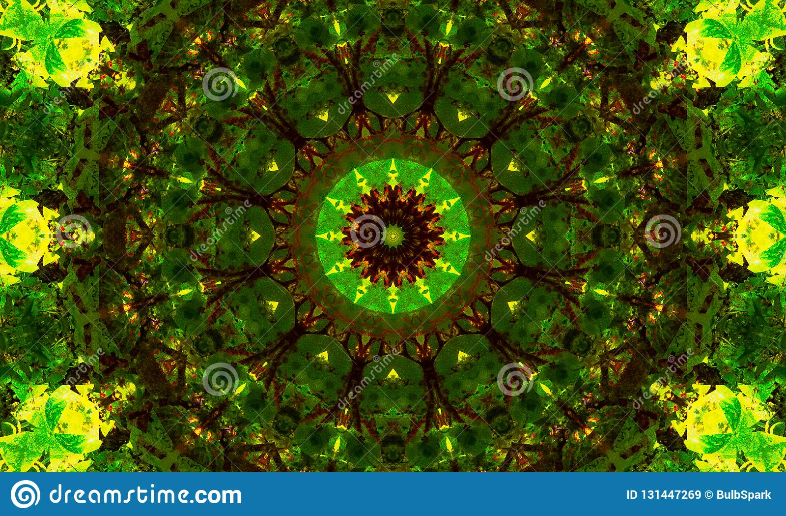 Mandala Art With Many Shades Of Green Stock Illustration Illustration Of Pattern Graphic 131447269