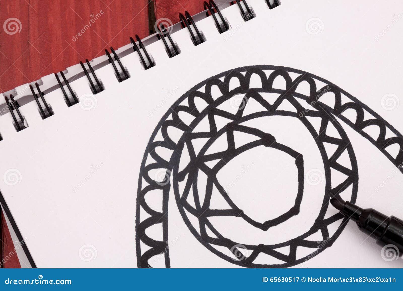 Mandala avec le marqueur