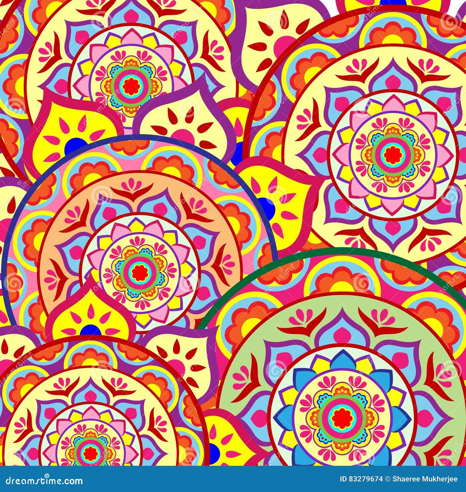 Mandala Background Wallpaper Pattern Stock De Ilustración