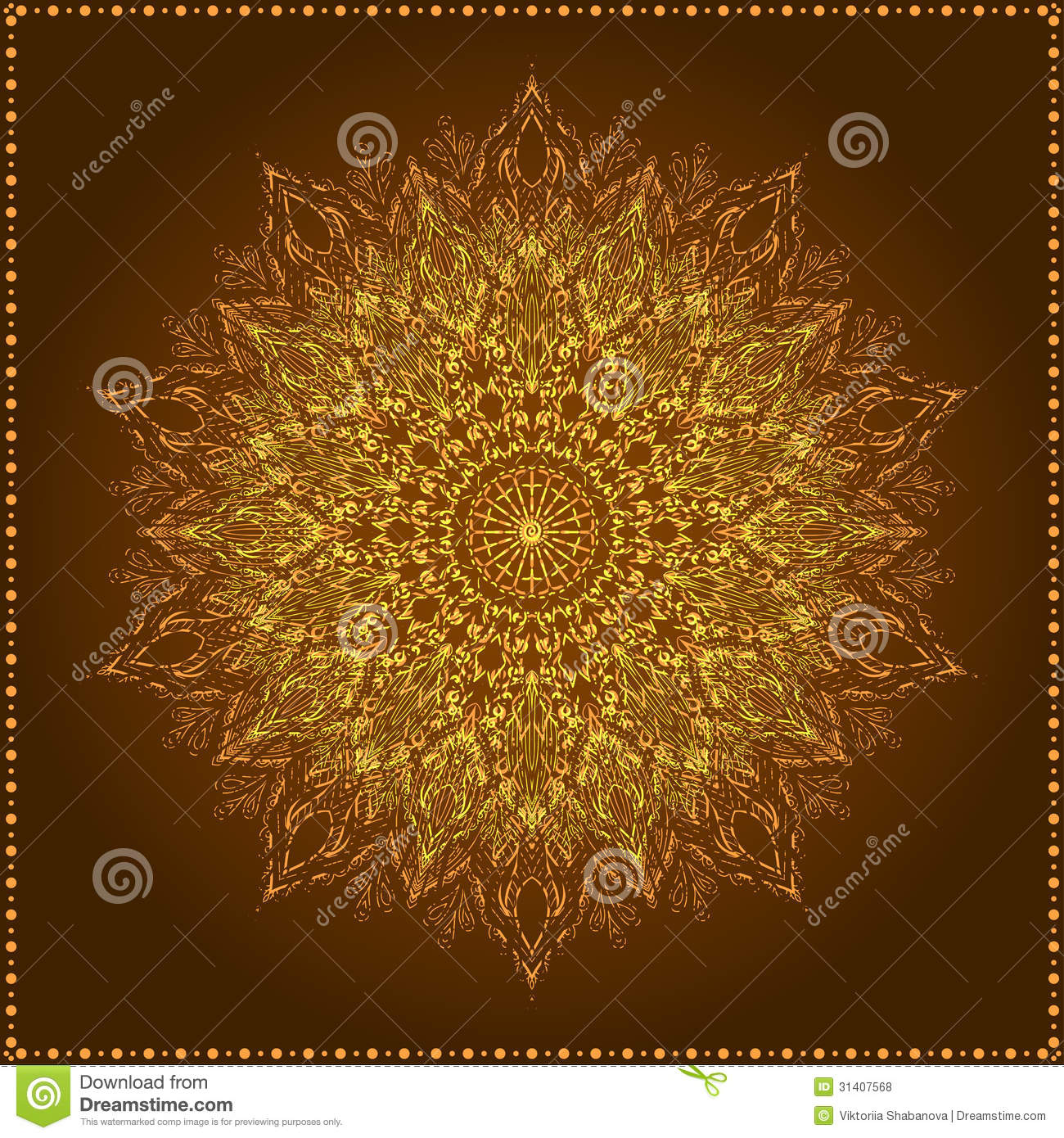 Lotus Flower Design Wall Paper : Mandala beautiful hand drawn flower royalty free stock