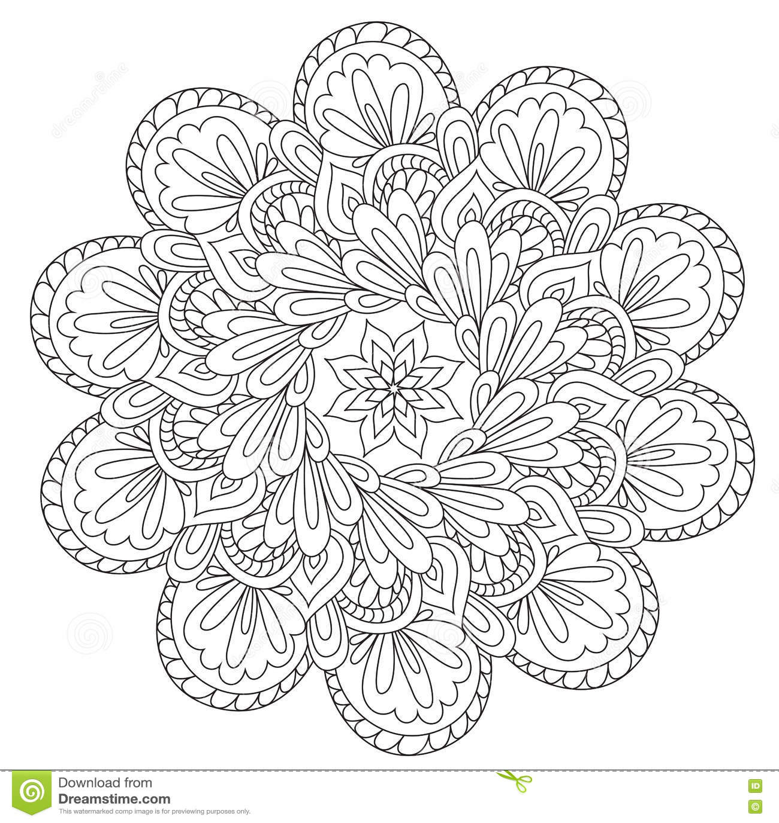 Mandala bella di coloritura di astrazione
