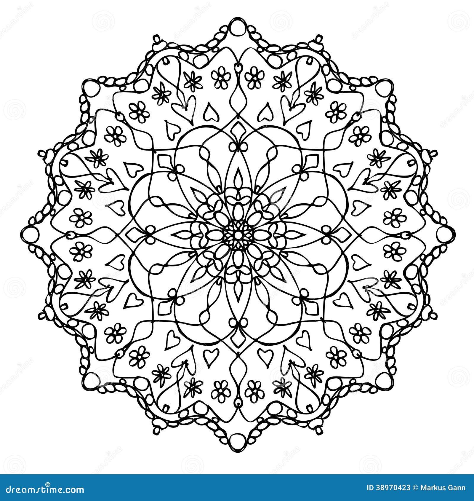 Mandala Black And White Stock Illustration Image Of