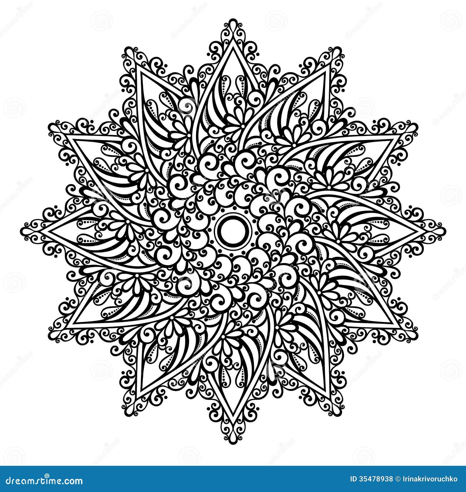 Mandala bonita de deco vetor ilustra o do vetor - Mandala beau et difficile ...