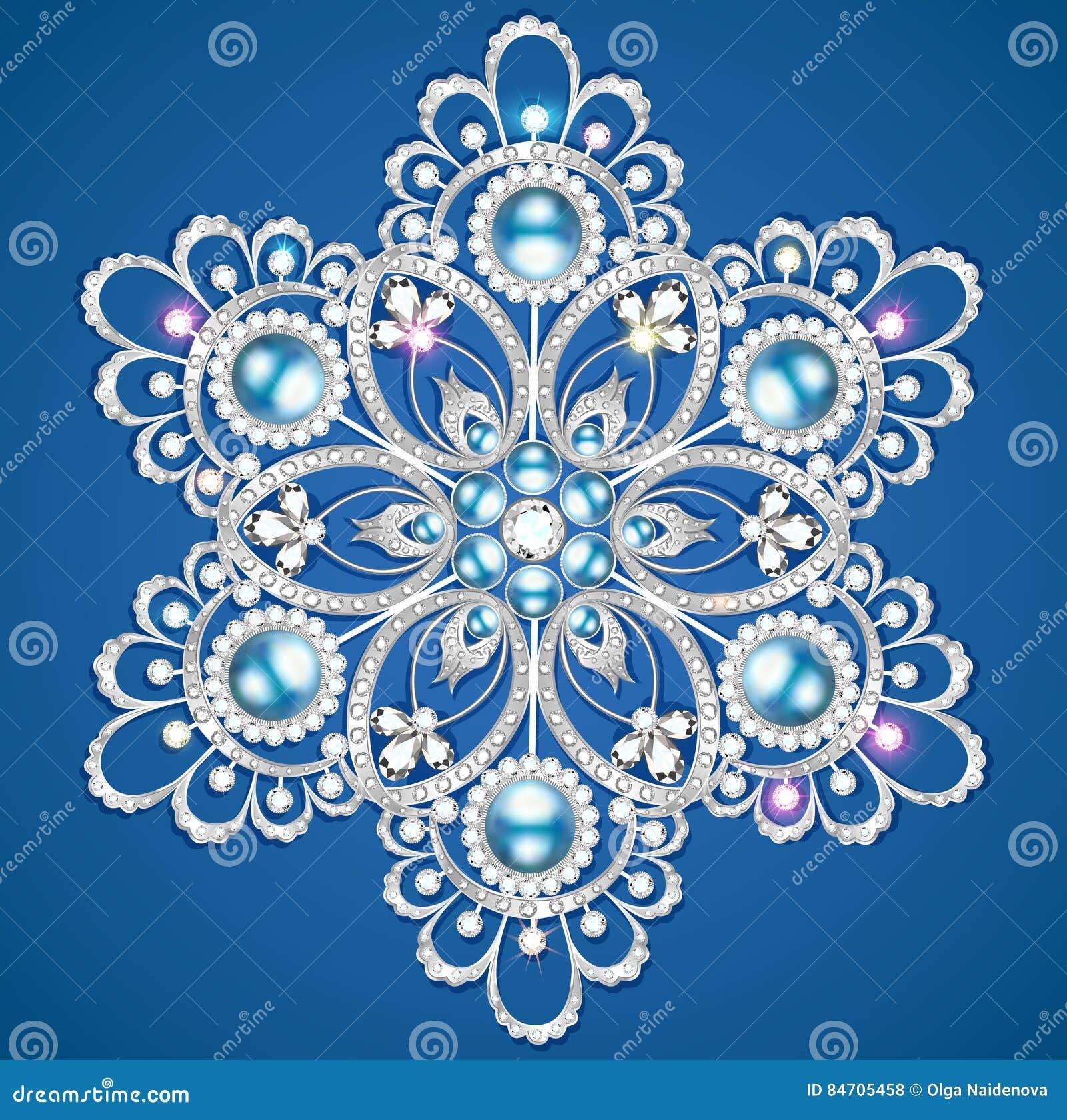 Mandala brooch jewelry, design element.