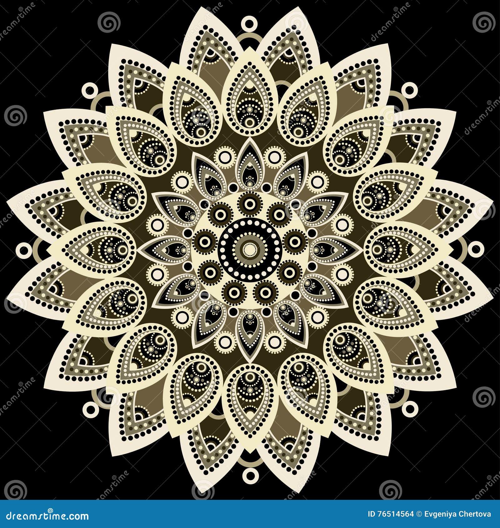 Mandala Bunt Ost Ethnisches Design Orientalisches Muster Runde