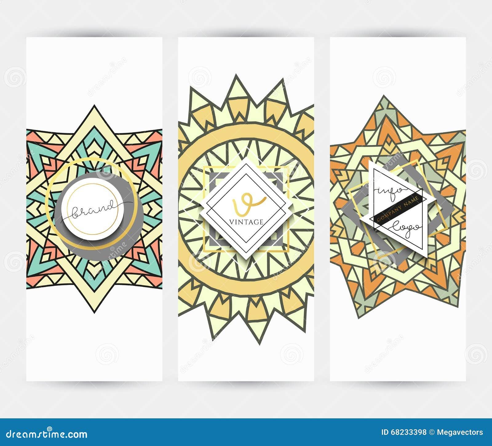 Mandala business card with ornament handmade in retro colors business card with ornament handmade in retro colors stock vector illustration reheart Choice Image