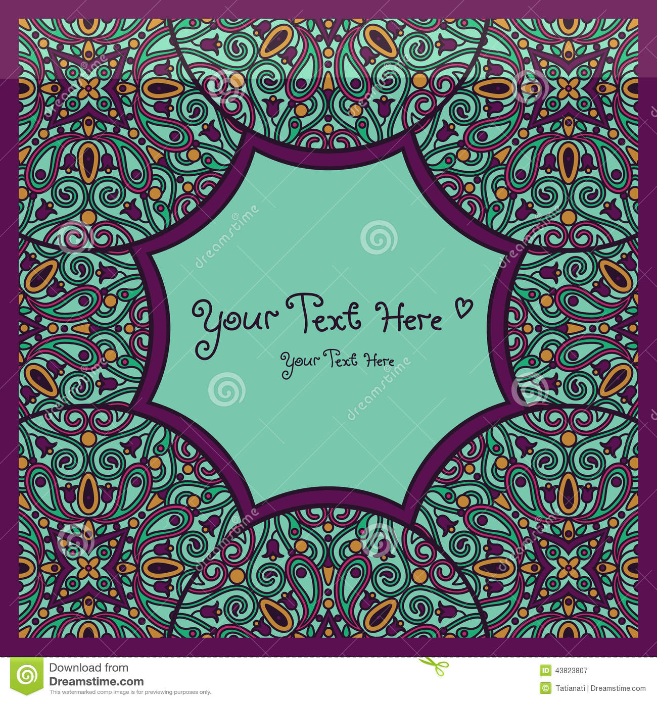 mandala card stock vector