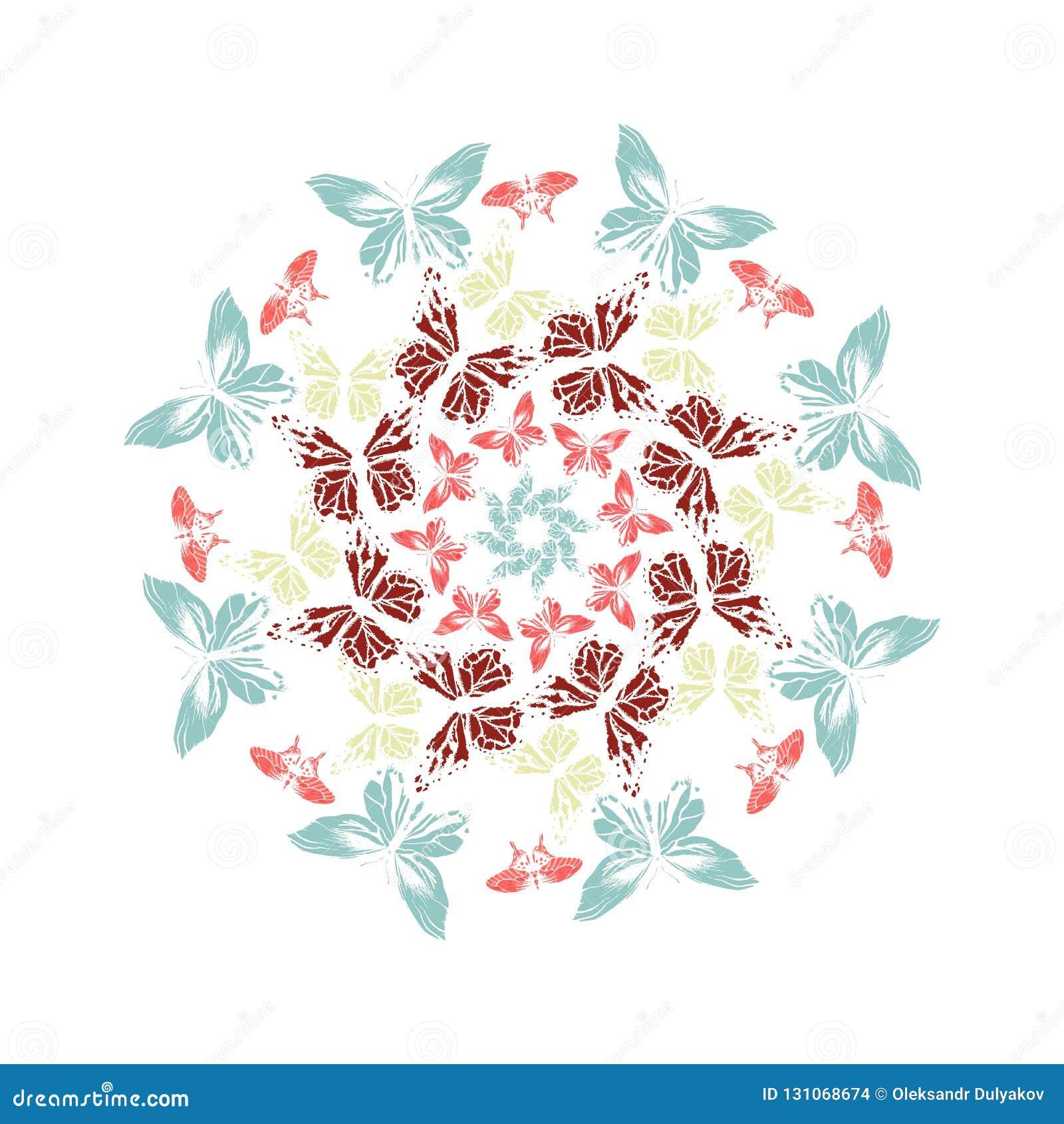 Mandala cercle Illustration de vecteur