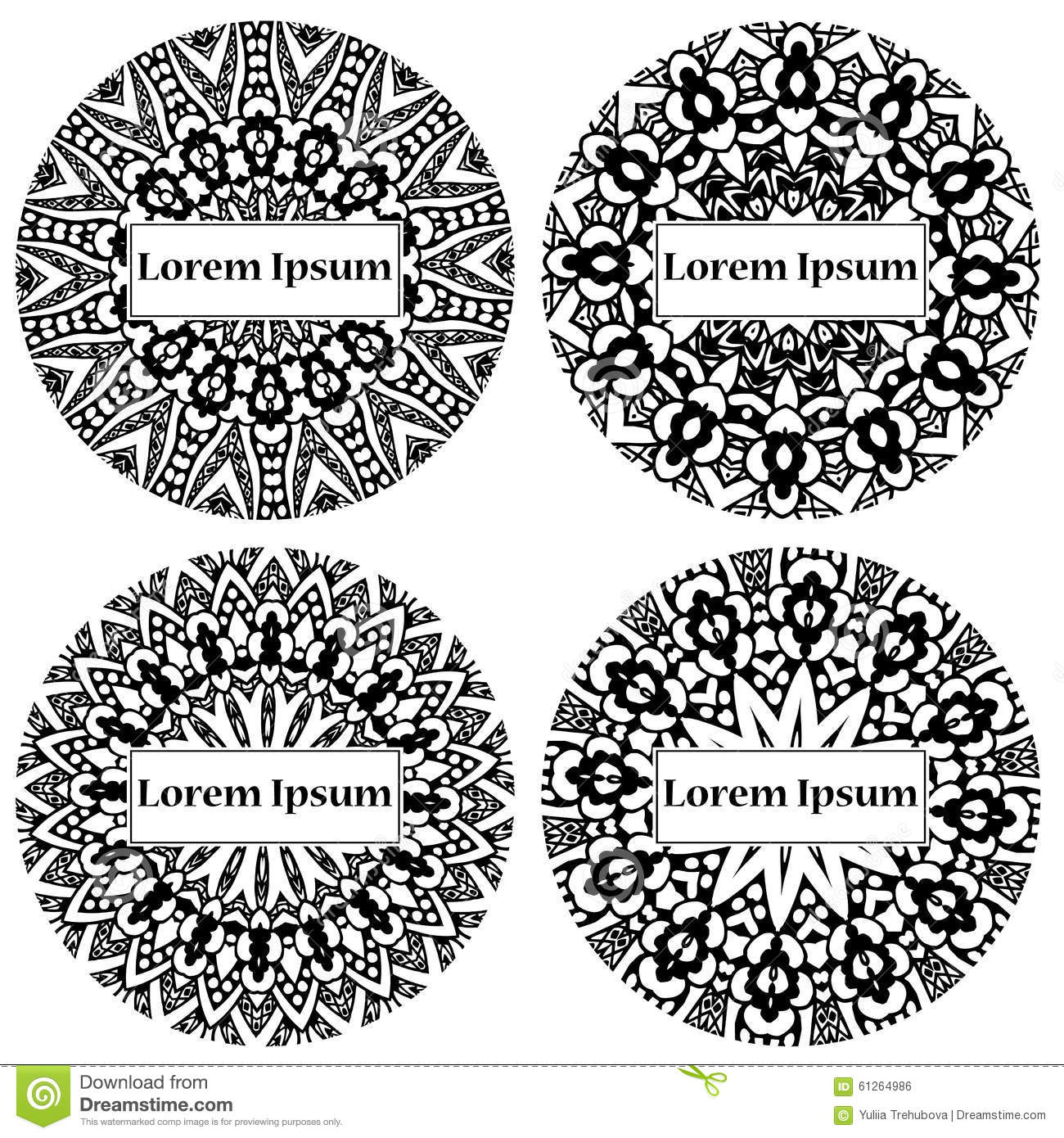 Mandala circle design abstract lace ornament vector illustration download comp stopboris Gallery