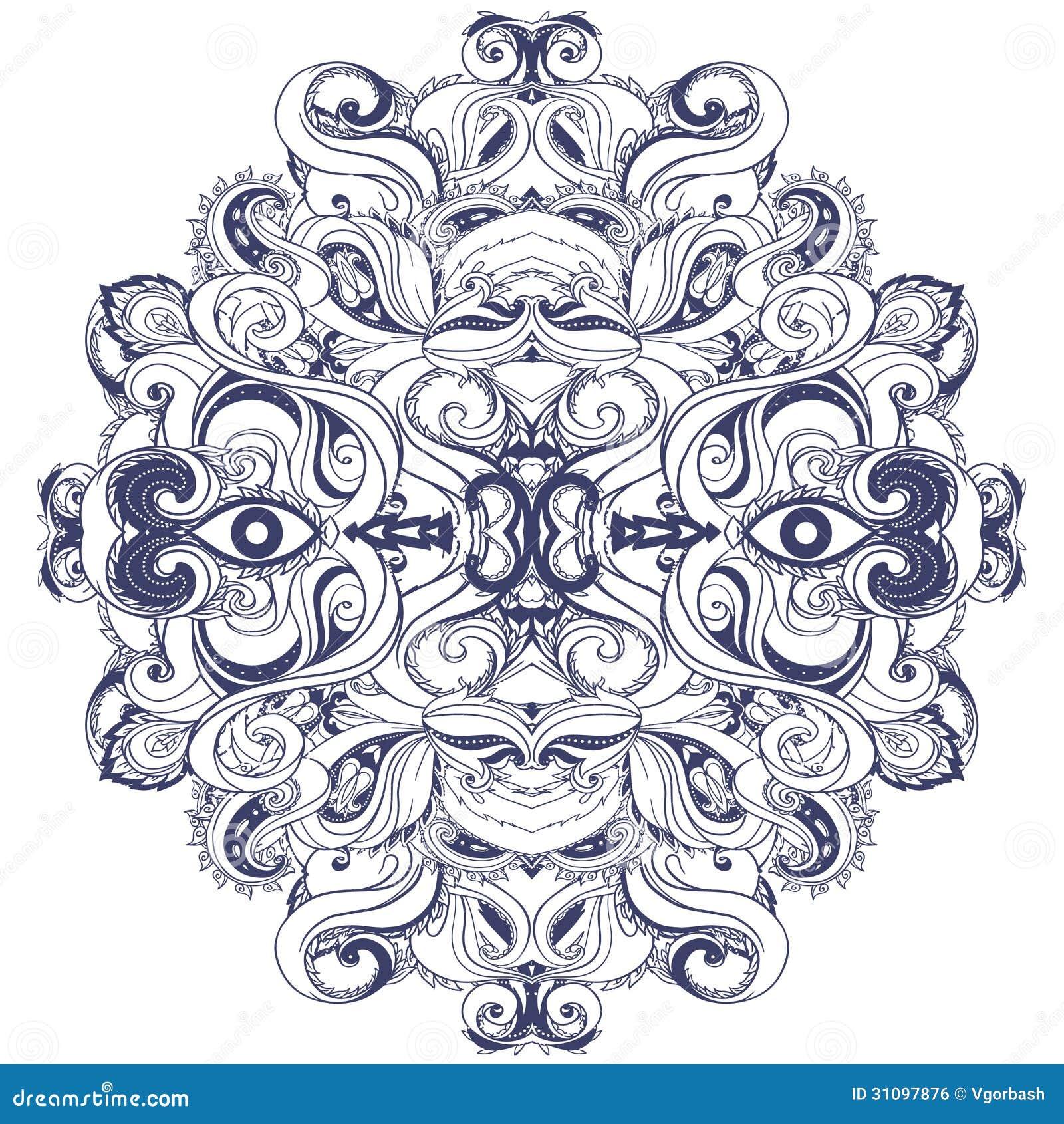 Mandala: Circle Pattern, Ornamental Round Lace Stock ...