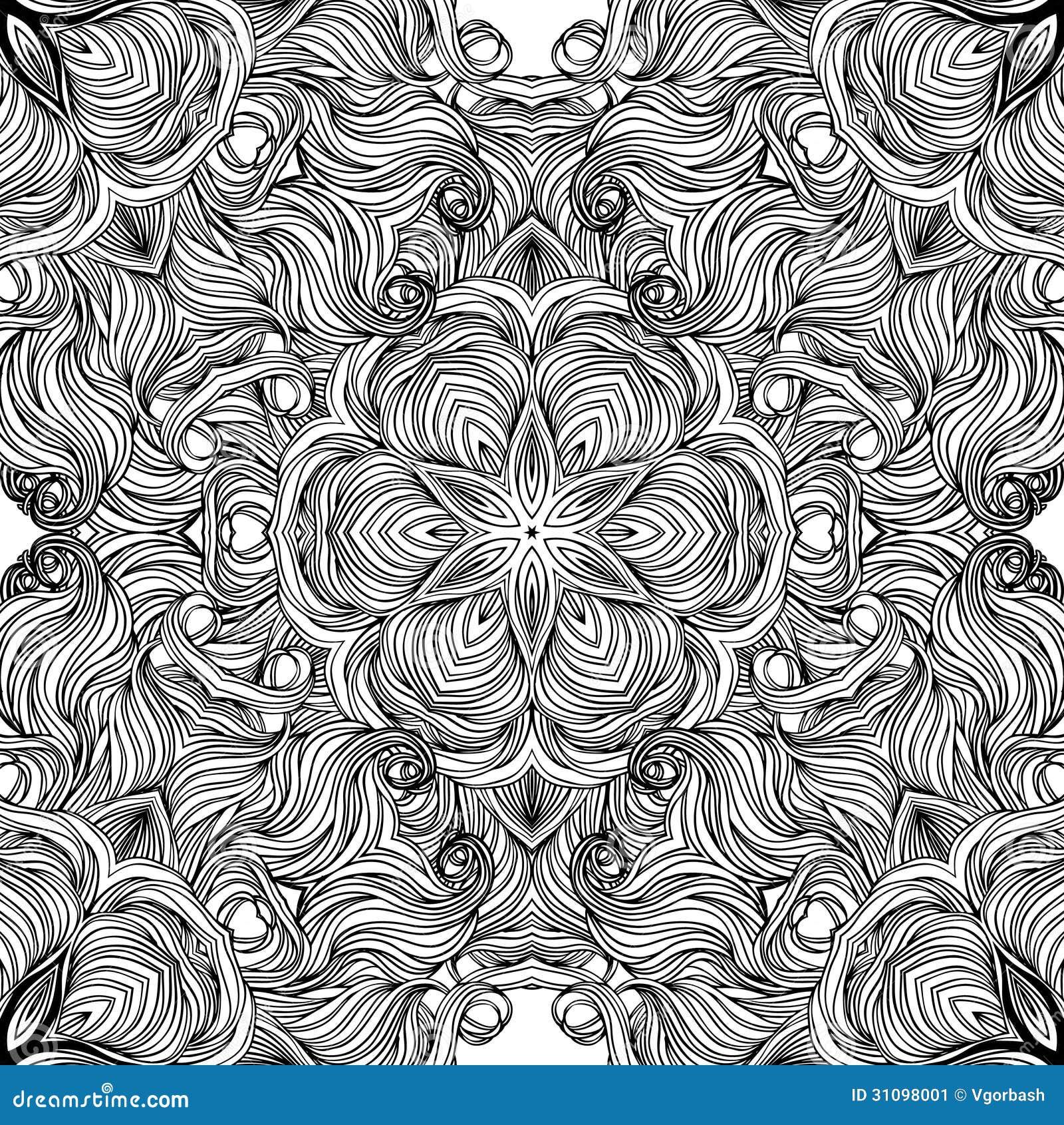 Mandala Circle Pattern Ornamental Round Lace Stock