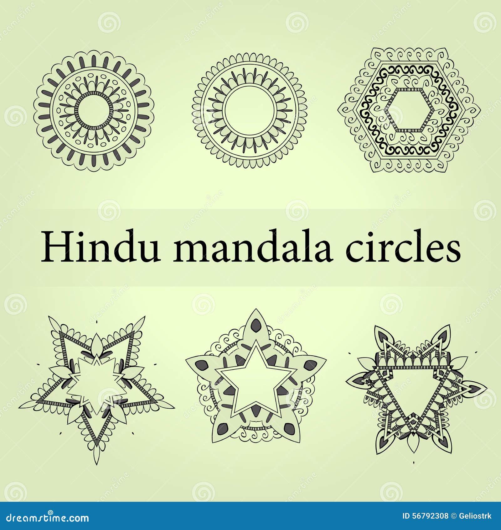 mandala circles set mystic mandala stock vector image 56792308. Black Bedroom Furniture Sets. Home Design Ideas