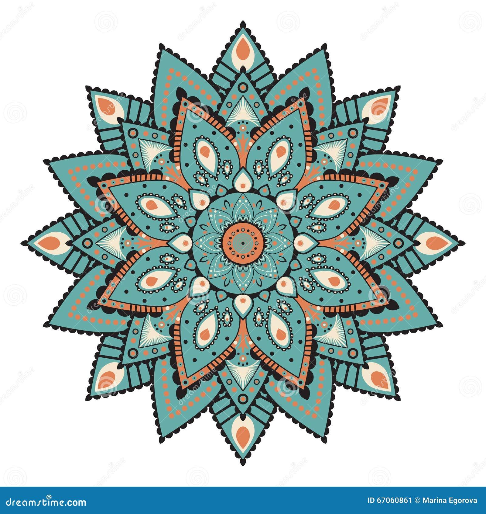 c84e48a492b Mandala Of Cirkel Symmetrisch Patroon Vector Illustratie ...