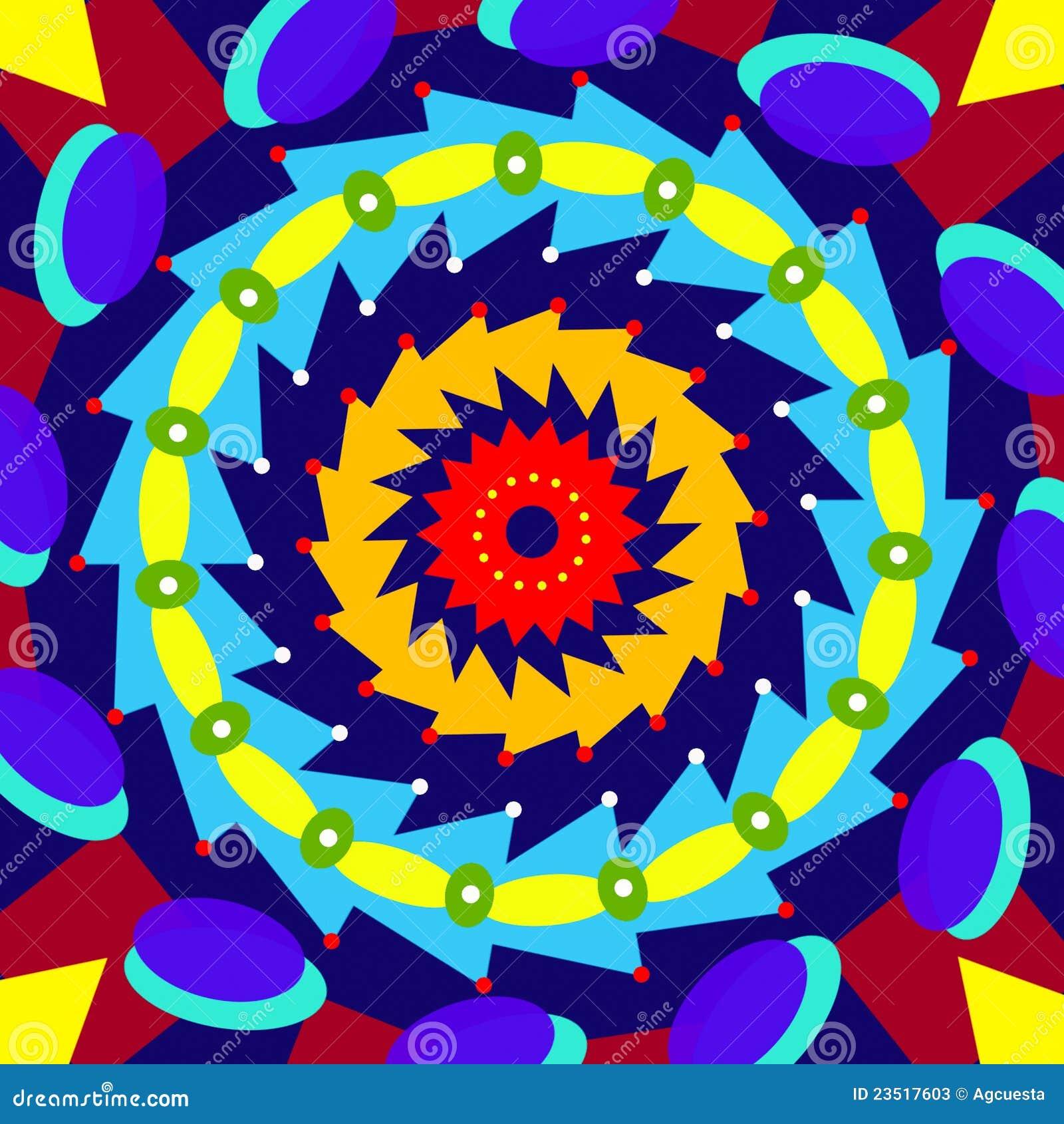 Mandala Colorida Geometrica Circulo Sagrado Ilustracao Stock