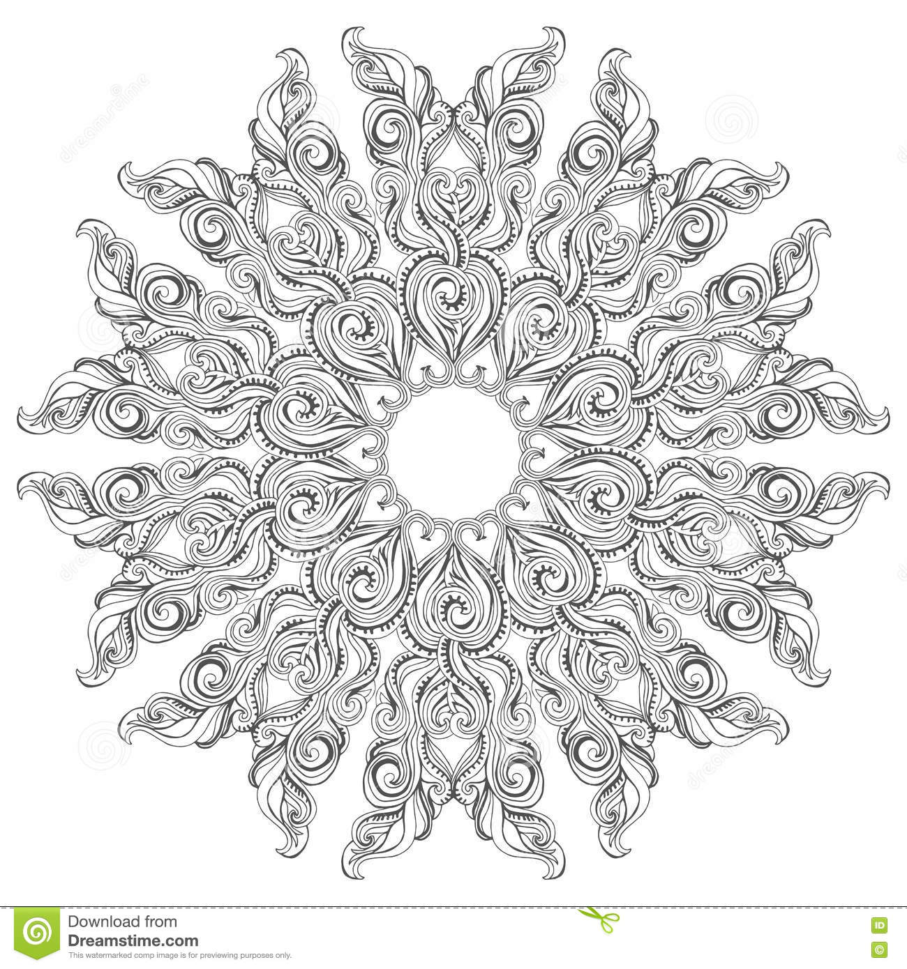 Royalty Free Vector Download Mandala Coloring Book Page For Adults And Kids Stock