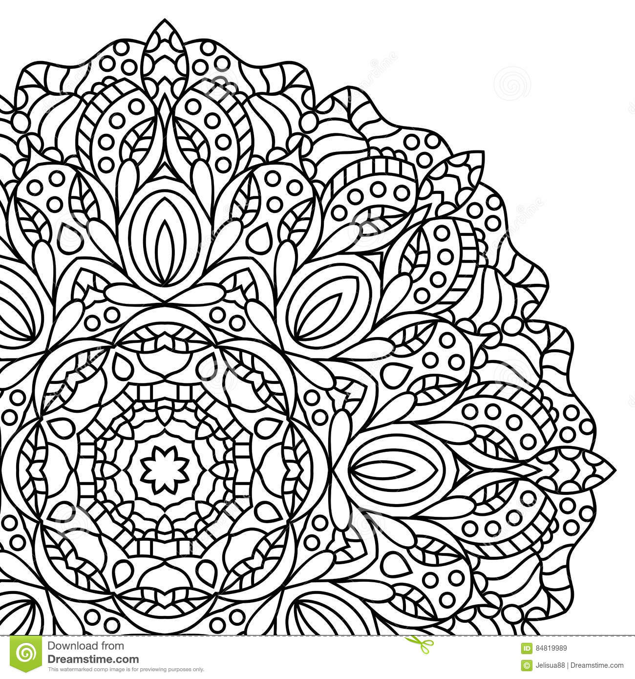 Download Mandala Coloring Book Pages Stock Vector
