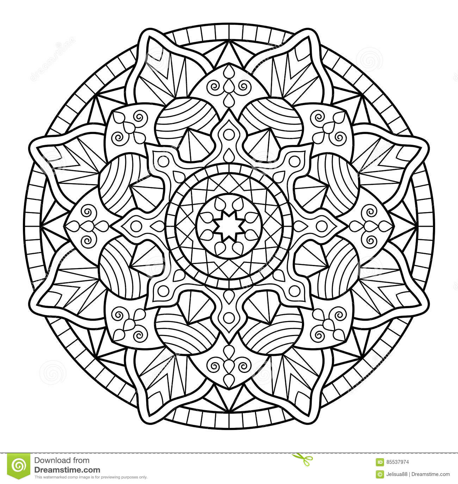- Mandala. Coloring Book Pages Stock Vector - Illustration Of Chakra