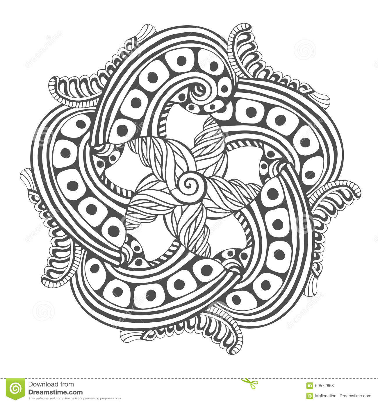 Mandala For Coloring Book Pages Vector Ornament Pattern