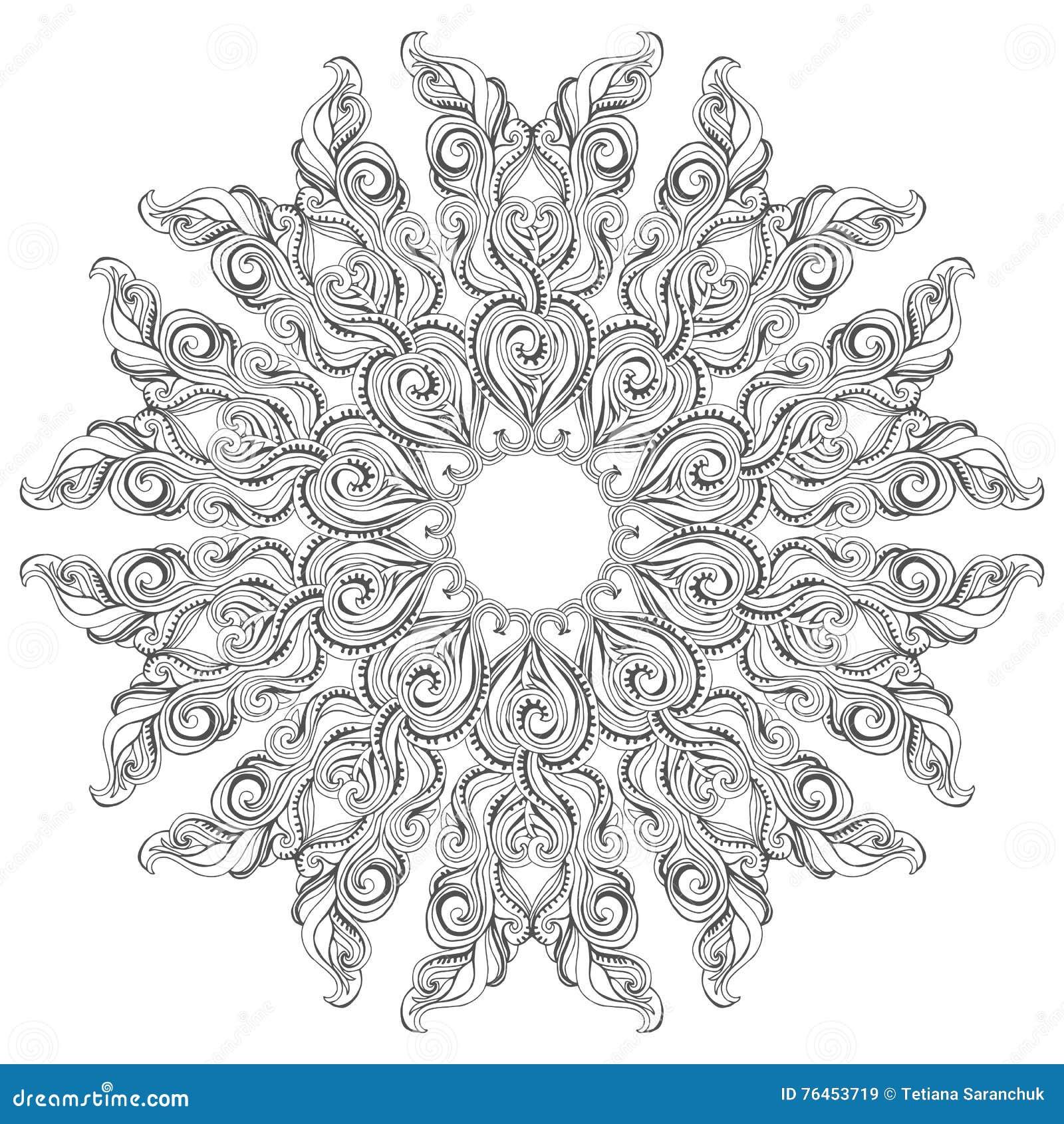 mandala coloring buchseite f r erwachsene und kinder vektor abbildung illustration von hand. Black Bedroom Furniture Sets. Home Design Ideas